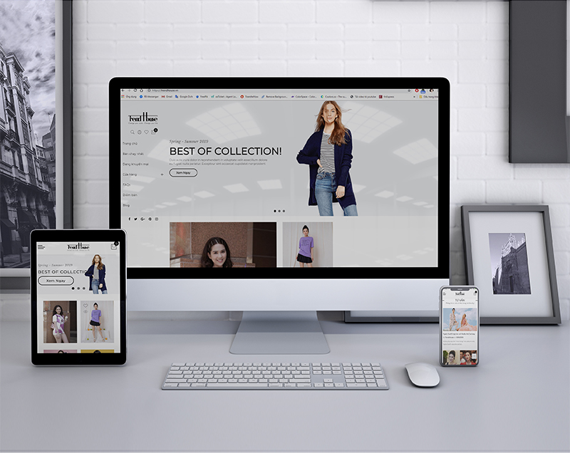 giao diện website trendhouse